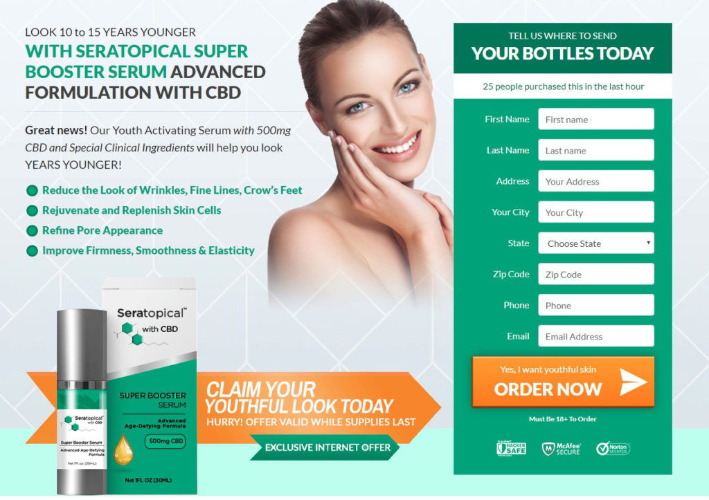 Seratopical Super Booster Serum CBD Reviews- Dosage, Price, Facts