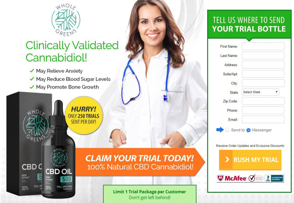 Whole Greens CBD Oil Reviews- Side Effects, Ingredients, Price