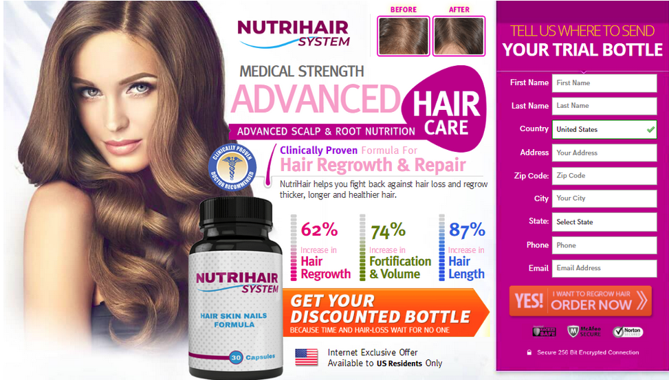 NutriHair System Hair Growth